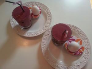 smoothie och ägg