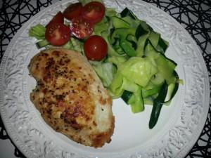 kyckling med zucchinipasta
