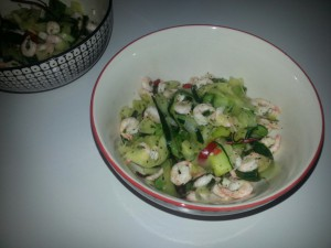 räkor i het zucchinipasta
